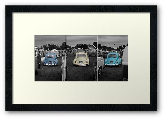 VW Beetle triptych by Martyn Franklin