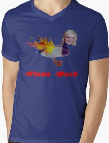 Parks and Recreation Flame Duck Mens V-Neck T-Shirt