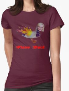 Parks and Recreation Flame Duck Womens Fitted T-Shirt