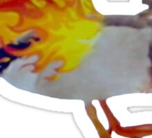 Parks and Recreation Flame Duck Sticker