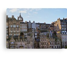 Tenements (Apartments) Of Edinburgh City, Scotland, UK Canvas Print