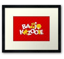 Bear & Bird - Red Framed Print