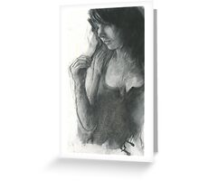 split ends in charcoal Greeting Card