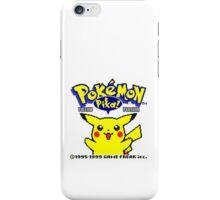 Pokemon Yellow iPhone Case/Skin
