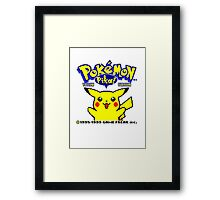 Pokemon Yellow Framed Print