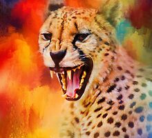 Colorful Expressions Cheetah 2 by Jai Johnson