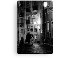 Little dark street Canvas Print