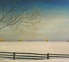 "Don't Fence Me In 30x20"" Clarksburg, Ontario - Oil, Sold by Luci Feldman"