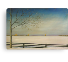 """SOLD - Oil - Don't Fence Me In 30x20"""" Clarksburg, Ontario Canvas Print"""