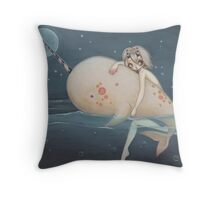 The Narwhal fairy sprite Throw Pillow