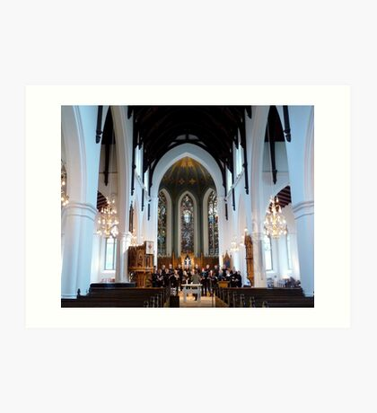Choire Practice at Michael´s Mass Art Print