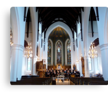 Choire Practice at Michael´s Mass Canvas Print