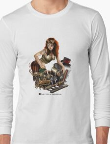 Girl in goggles Long Sleeve T-Shirt
