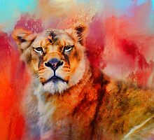 Colorful Expressions Lioness by Jai Johnson