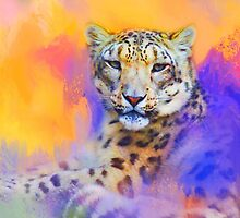 Colorful Expressions Snow Leopard by Jai Johnson