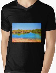 Tidal River Mens V-Neck T-Shirt