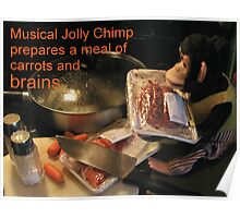 Musical Jolly Chimp Prepares a Meal of Brains Poster