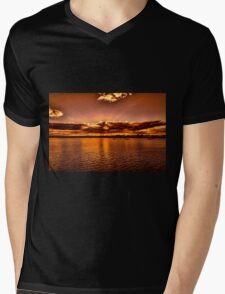 Bronze Sunset Mens V-Neck T-Shirt