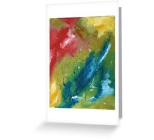 Sky Splatter Abstract Greeting Card