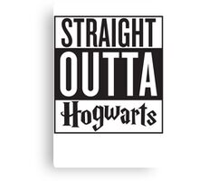 Straight Outta Hogwarts! Harry Potter Compton Mashup Shirt!  Canvas Print