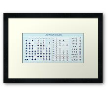 Johnson Solids Framed Print