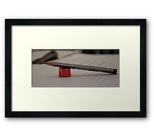 Pencil & Sharpener Framed Print
