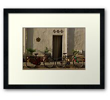 side streets of san vito lo capo Framed Print