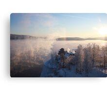 Vapors rising from a freezing river, Höga Kusten / High Coast, Sweden 1 Canvas Print