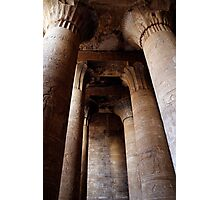 Edfu temple columns Photographic Print