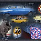 Chevy Bel Air -57 collage by Paola Svensson