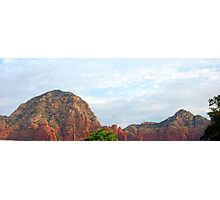 Blue Sky Over Red Hills Photographic Print