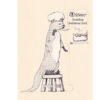 Creating delicious food - Otter - Oldlace Photographic Print