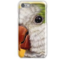 Green quaker parrot realistic painting iPhone Case/Skin