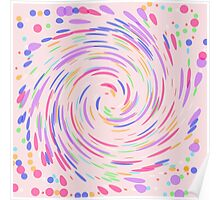 Swirling Dots on Pink Poster