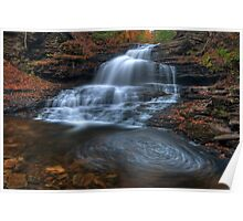 Onondaga Falls, Ricketts Glen State Park Poster