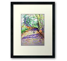 Bunch lane Framed Print