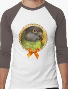 Senegal parrot realistic painting Men's Baseball ¾ T-Shirt