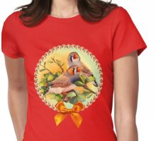 Zebra finches realistic painting Womens Fitted T-Shirt