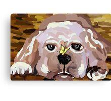 A Lab puppy Canvas Print