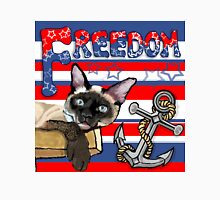 Freedom - The Lucky Cat Womens Fitted T-Shirt