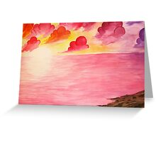 Your love, oceans away. Greeting Card