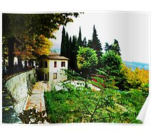 Tuscany Wine Country Poster