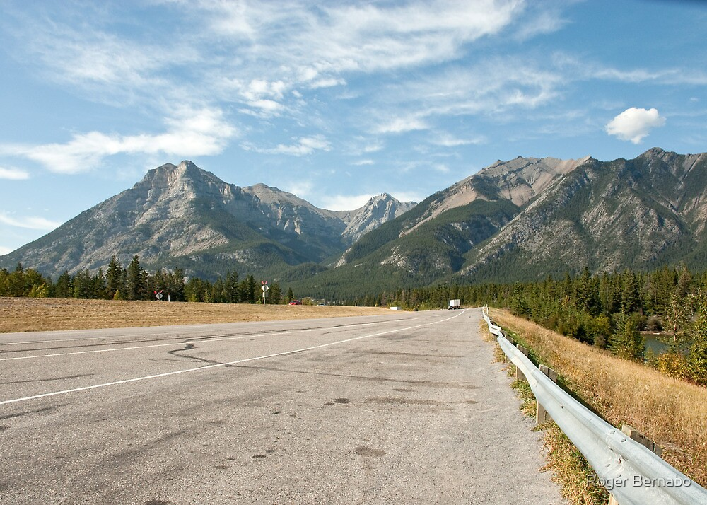 Road to Banff by Roger Bernabo