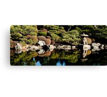 Japanese gardens of the Denver Botanic gardens Canvas Print