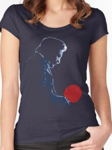 Johnny Cash Red Paddle Women's Fitted Scoop T-Shirt