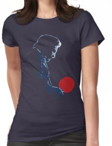Johnny Cash Red Paddle Womens Fitted T-Shirt