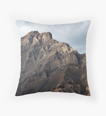 Rugger Mountain Peak in Banff Throw Pillow