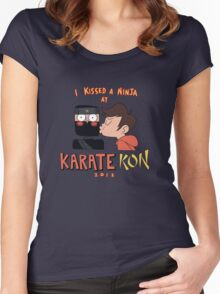 I Kissed a Ninja at KarateKon Women's Fitted Scoop T-Shirt