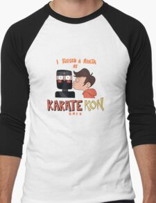 I Kissed a Ninja at KarateKon Men's Baseball ¾ T-Shirt