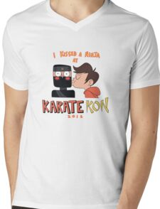 I Kissed a Ninja at KarateKon Mens V-Neck T-Shirt
